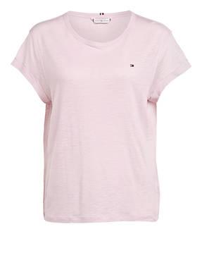 TOMMY HILFIGER T-Shirt mit Leinen