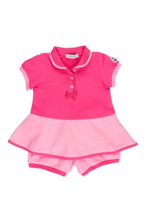 MONCLER enfant Set: Piqué-Kleid und Piqué-Shorts
