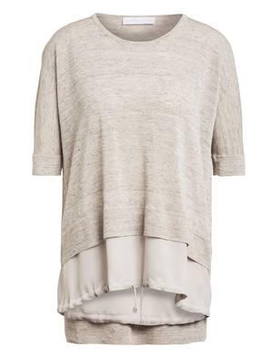 FABIANA FILIPPI Kurzarm-Pullover aus Leinen