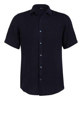 ZZegna Halbarm-Hemd aus Leinen Regular Fit