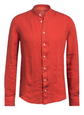 HACKETT LONDON Leinenhemd PORTER Slim Fit mit Stehkragen