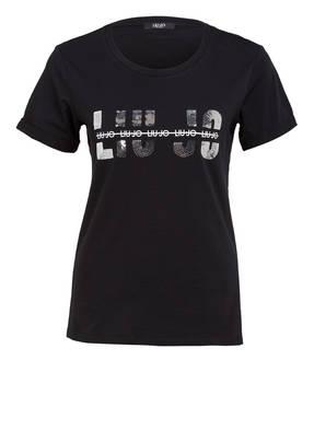 LIU JO T-Shirt mit Paillettenbesatz