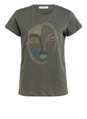 MUNTHE T-Shirt ELISA mit Schmucksteinbesatz