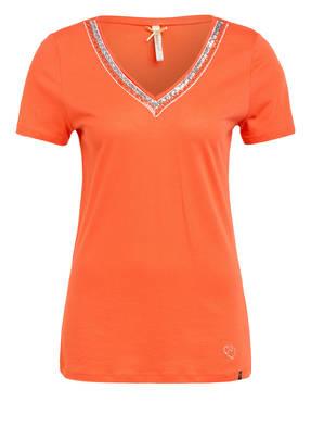 KEY LARGO T-Shirt MILA mit Paillettenbesatz