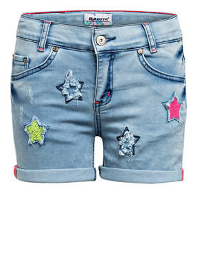 BLUE EFFECT Jeans-Shorts mit Paillettenbesatz