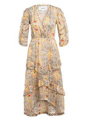 ba&sh Kleid HAPPY mit 3/4-Arm und Glitzergarn