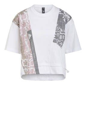 adidas by Stella McCartney T-Shirt mit Mesh-Einsatz