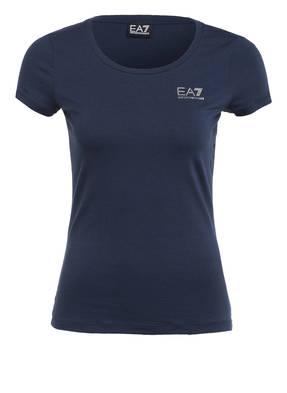 EA7 EMPORIO ARMANI T-Shirt mit Schmucksteinbesatz