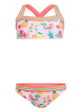SUNUVA Bustier-Bikini PINK ALOHA mit UV-Schutz 50+