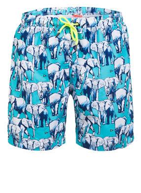 SUNUVA Badeshorts BLUE ELEPHANT mit UV-Schutz 50+