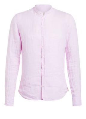 Q1 Manufaktur Leinenhemd RENE Extra Slim Fit mit Stehkragen