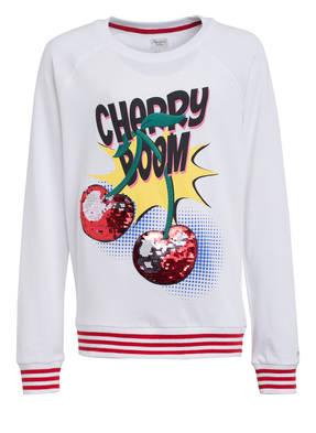 Pepe Jeans Sweatshirt mit Paillettenbesatz