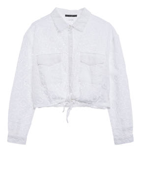 GUESS Bluse aus Lochspitze