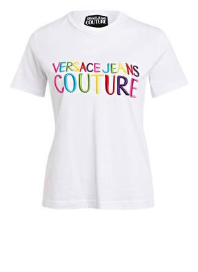VERSACE JEANS COUTURE T-Shirt mit Stickereien