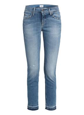 CAMBIO Destroyed Jeans LIU mit Schmucksteinbesatz