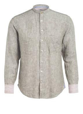 FYNCH-HATTON Leinenhemd mit Stehkragen Casual Fit