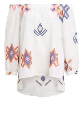 lilienfels Off-Shoulder-Bluse CARMEN mit Stickereien