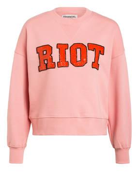 ESSENTIEL ANTWERP Oversized-Sweatshirt mit Paillettenbesatz