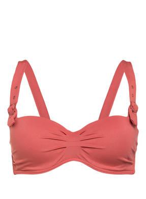 BEACHLIFE Bandeau-Bikini-Top DUSTY CEDAR