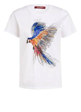 MaxMara STUDIO T-Shirt mit Perlenbesatz und Glitzergarn