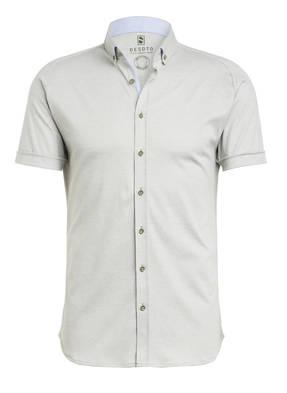 DESOTO Kurzarm-Hemd MODERN Slim Fit aus Jersey