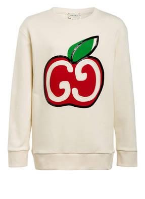 GUCCI Sweatshirt mit Pailettenbesatz