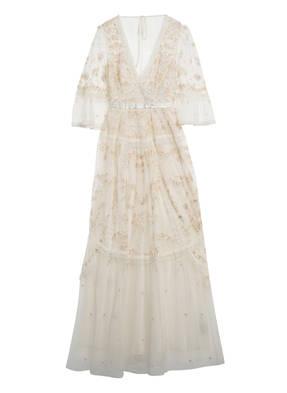 needle & thread Kleid mit Spitzenbesatz