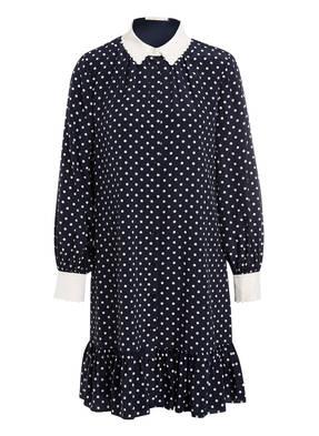 TORY BURCH Hemdblusenkleid CORA aus Seide mit Volantbesatz