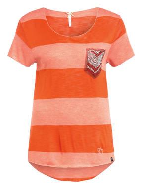 KEY LARGO T-Shirt JANA mit Perlen- und Schmucksteinbesatz