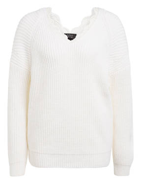 MARC CAIN Pullover mit Spitzenbesatz