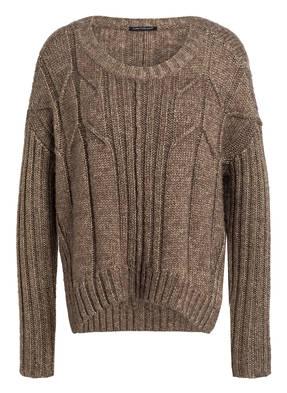LUISA CERANO Cropped-Pullover mit Glitzergarn