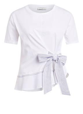 sandro T-Shirt im Materialmix