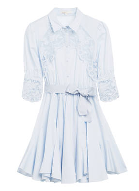 maje Kleid REBELLA mit 3/4-Arm und Häkelspitze