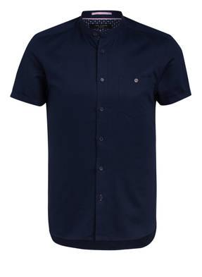TED BAKER Halbarm-Hemd GLATE Extra Slim Fit mit Leinen