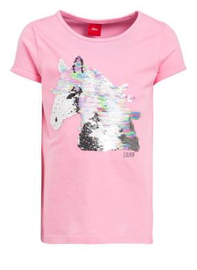 s.Oliver T-Shirt mit Pailettenbesatz