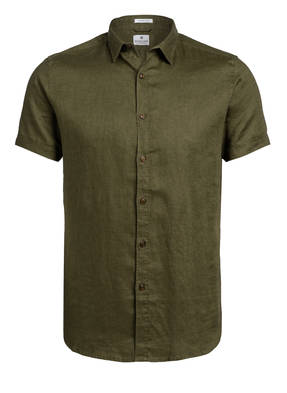 DSTREZZED Halbarm-Hemd Regular Fit aus Leinen