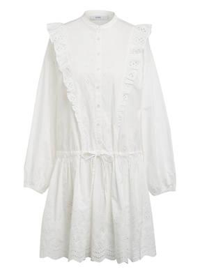 CLOSED Kleid mit Lochspitze und Volantbesatz