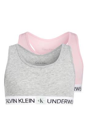 Calvin Klein 2er-Pack Bralette MINIGRAM