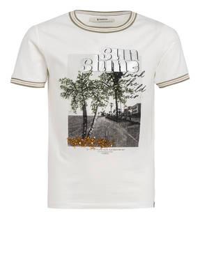 GARCIA T-Shirt mit Paillettenbesatz