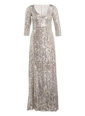 BARBARA SCHWARZER Abendkleider mit Pailletten- und Perlenbesatz
