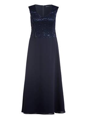 SWING Curve Abendkleid mit Spitzen- und Paillettenbesatz