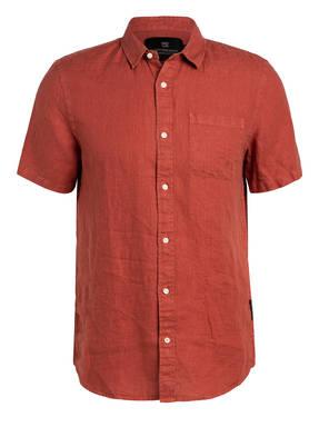 SCOTCH & SODA Halbarm-Hemd aus Leinen