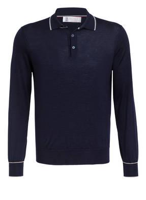 BRUNELLO CUCINELLI Cashmere-Poloshirt mit Seide