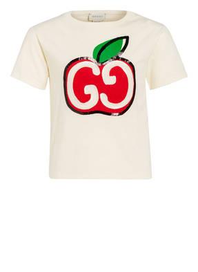 GUCCI T-Shirt mit Pailettenbesatz