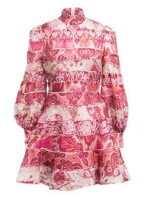ZIMMERMANN Kleid WAVELENGTH mit Leinen und Seide