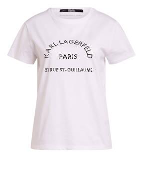 KARL T-Shirt mit Schmucksteinbesatz