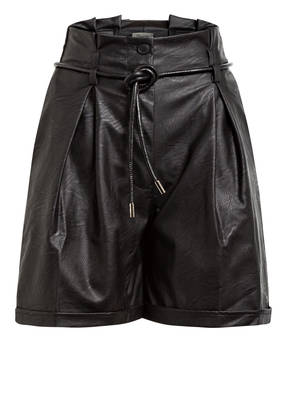 Dixie Paperbag-Shorts in Lederoptik