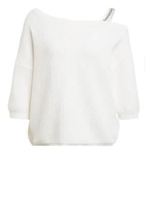 CLAUDIE PIERLOT One-Shoulder-Pullover MAGDAN mit Perlenbesatz