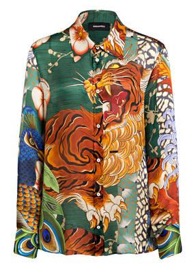 DSQUARED2 Oversized-Hemdbluse aus Seide