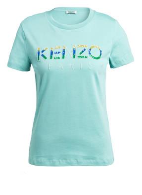 KENZO T-Shirt mit Paillettenbesatz